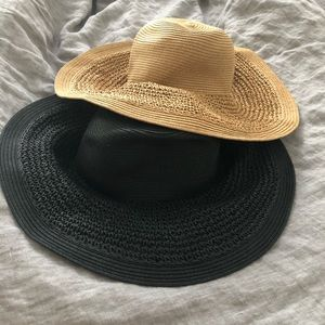 Two straw hats, NWOT